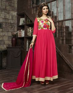 Ayesha Takia Pink Georgette Ankle Length Anarkali Suit 61708