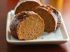 Gluten Free Cinnamon and Toasted Pecan Crusted Sweet Potato Cake made with Betty Crocker Gluten Free Yellow Cake Mix.