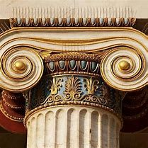 A close up view of a Greek Ionic column. Columns like these were very intricately designed, and a huge part of Greek architecture. Greece Architecture, Architecture Antique, Ancient Greek Architecture, Classical Architecture, Art And Architecture, Architecture Details, Ancient Greek Art, Ancient Greece, Zaha Hadid Design