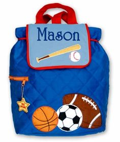 Children Backpack Personalized Sports Stephen Joseph by parsik93, $25.99