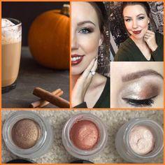 Chelsey's look: Pumpkin Spice Latt-Eye using Splurge Cream Shadows in Elegant, Defiant, and Tenacious. #beauty #makeup #eyeshadow