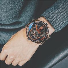 Watches Quartz Watches Folk Style Bamboo Watch Handmade Scrub Weave Dial Leather Band Men Women Quartz Wristwatch Nature Concise Clock Hour Relogio
