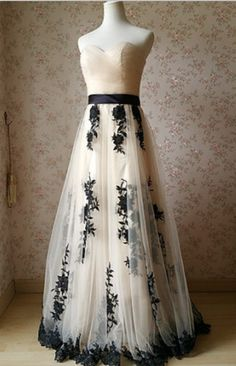 Charming Prom Dress,Tulle Prom Dress,Appliques Prom Dress,Sweetheart Evening