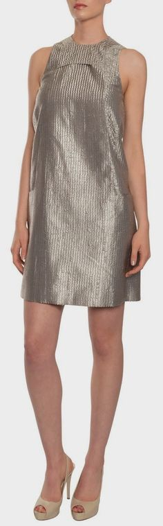Polished Silk Brocade Dress - Calvin Klein. #dress #spring #highheels