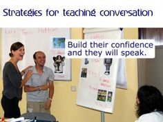 Strategies for teaching English conversation - teaching tips and ideas