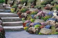 Garden design:rockery - Spring I think my MOM will LOVE this :) as much as I do!