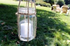 Light up the night with these great diy lanterns.. great for parties (and something to do with all those glass jars I seem to save and have no idea what to do with!)