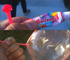 blow your own balloons. I remember the smell