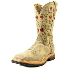 Women's Floral Stitched Roughstock Cowgirl Boot Steel Toe - Wlcs002 -- Want additional info? Click on the image. (This is an affiliate link and I receive a commission for the sales) #Outdoor