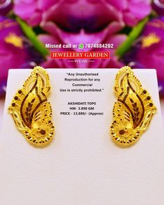 Indian Jewelry Earrings, Real Gold Jewelry, Coral Jewelry, Ear Jewelry, Jewelry Art, Gold Ring Designs, Gold Earrings Designs, Gold Jewellery Design, Gold Mangalsutra