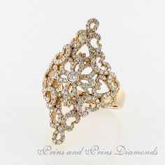 """There are 215 = 1.06ct GH/VS – SI round brilliant cut diamonds pavé set in an """"antique lace"""" 18k rose gold design"""