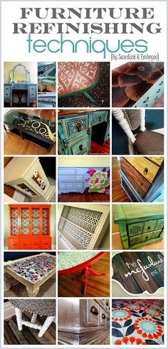 refinishing furniture EXCELLENT Resource for all things related to Furniture Re-dos! Tons of tips and ideas! {Sawdust and Embryos}
