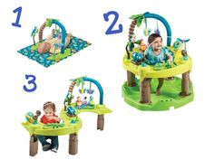Top 6 Stationary Play Centers for Your Baby: Evenflo Exersaucer Triple Fun
