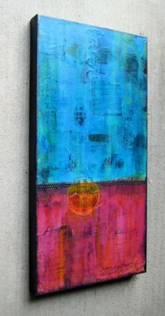 Abstract in acrylic on canvas
