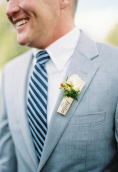 Browse gorgeous wedding photos from real Zola couples, and find ideas, venues, vendors, and more for your special day. Boutonnieres, Wedding Suits, White Roses, Wedding Photos, Wedding Ideas, Groomsmen, Getting Married, Real Weddings, Boyfriends
