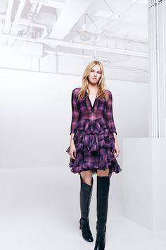 Fall for Floral brocades, high-gloss fabrics and glam fringe.