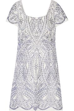 Shop on-sale Marchesa Notte Embroidered cutout satin mini dress. Browse other discount designer Dresses & more on The Most Fashionable Fashion Outlet, THE OUTNET.COM