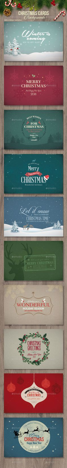 Christmas Cards / Backgrounds by corrella 10 Christmas Cards / Backgrounds PSD Features:Size: 1800px x 1200 px / 300 dpi (64 inches   0.125 inches bleedChange them to any s