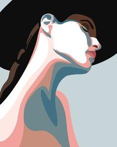 Digitale Kunst - Art and creative making - Art And Illustration, Graphic Design Illustration, Graphic Art, Geometric Graphic Design, Cartoon Illustrations, Illustration Fashion, Character Illustration, Botanical Illustration, Watercolor Illustration
