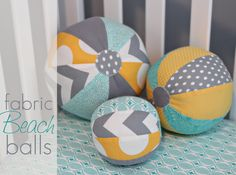 Fabric Beach Balls, easy diy project to make for your kiddos