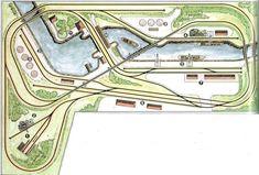 Tidy detected model train layouts ideas why not look here N Scale Train Layout, Ho Train Layouts, N Scale Trains, Ho Trains, Model Trains, Escala Ho, Model Railway Track Plans, Train Set, Train Tracks