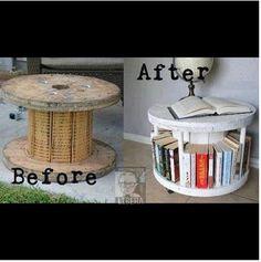 DIY bookshelf and side table