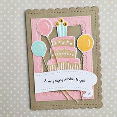 Very Happy Birthday Card by Heather Nichols for Papertrey Ink (June 2016)