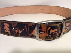 Men's Vintage Leather Belt - Brown & Black - Famous Faces Pop Art Size 33-38 | eBay