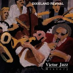 1997 Victor Jazz History Vol.19: Dixieland Revival [RCA 74321357382] cover painting by Alice Choné #albumcover