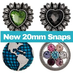 18mm/20mm snaps for snap jewelry. Purchase a piece of snap jewelry and interchange these snaps for multiple looks. Visit my website and sign up for my sales, specials and coupon code emails www.SnapJewelryOnABudget.com --- Earn free snap jewelry with a purchase of $25 or more. FOLLOW my blog for updates on additions to my website and more. https://snapjewelryonabudget.blogspot.com/