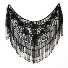 Vampish Black beaded shawl ($89) ❤ liked on Polyvore featuring accessories, scarves, outerwear, shawls, embroidered shawl, beaded shawl, beaded scarves, shawl scarves and embroidered scarves
