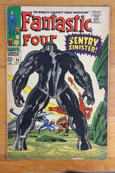 """- """"The Sentry Sinister"""" - First Appearance of: The Sentry - Silver Age: July 1967 - Cover Artists: Jack Kirby / Joe Sinnott - Artist: Jack Kirby - Inker: Joe Sinnott - Writer: Stan Lee - Condition: GD"""