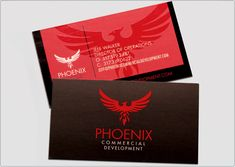 Phoenix Commercial Development business card design: