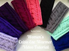 By Jenni Designs: Free Crochet Pattern: Women's Cable Ear Warmer