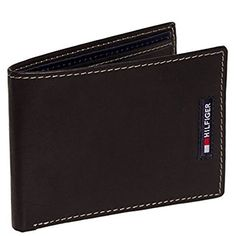 Tommy Hilfiger Mens Leather Passcase Bifold Billfold Wallet Black * You can find more details by visiting the image link. Note: It's an affiliate link to Amazon #MenWallet