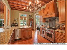 beautiful cypress cabinets in 1895 Acadian design home