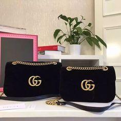 GG Marmont velvet shoulder bag black 2017 Gucci bags