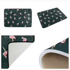 "24X16/"" Mint Green Leaf Shower Mat Bathroom Bath Mat Area Rug Doormat Non-slip"