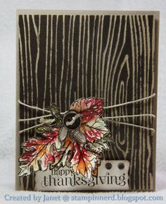Stampin Nerd: Happy Thanksgiving I think this is the Tim Holtz wood fence stamp or embossing folder. I have Emb. folder