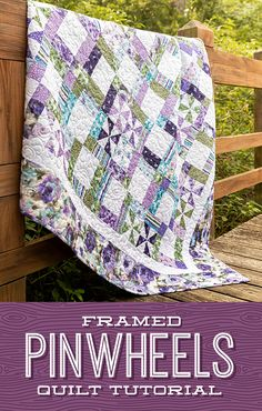 "Stitch up a ""picture perfect"" quilt this week as Jenny demonstrates how to create the Framed Pinwheels quilt! This gorgeous pattern is actually a disappearing nine patch that comes together unbelievably easy! Follow the link below to watch the quilting tutorial now! #MissouriStarQuiltCo #FramedPinwheelsQuilt #Pinwheels #PinwheelAesthetic #LayerCakeQuilt #LayerCake #BeginnerSewing #Quilting #HowToQuilt #QuiltTutorial #QuiltBlock #QuiltPattern #PinwheelQuilt #JennyDoan #Sewing Missouri Star Quilt Tutorials, Quilting Tutorials, Quilting Designs, Msqc Tutorials, Missouri Quilt, Layer Cake Quilts, Summer Quilts, Scrappy Quilts, Barn Quilts"