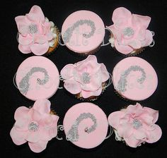 Similar to the ones I did in white last month for a birthday. Not my original design, but I do like them in the soft pink :) Pink Cupcakes, Mini Cakes, 21st Birthday, Pretty In Pink, Wedding Cakes, Floral, Design, Wedding Gown Cakes, Flowers