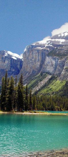 Mountain Turquoise, Maligne Lake, Jasper National Park, Alberta