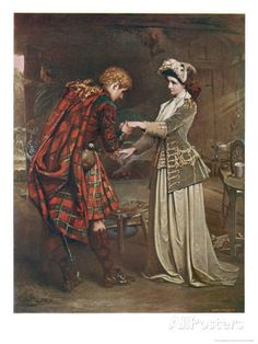Prince Charles Edward Stuart Bids Farewell to Flora Macdonald Who Aided His Escape Giclee Print