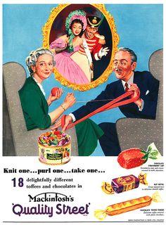 Quality Street advertisement.    From John Bull magazine, 29th September, 1956.