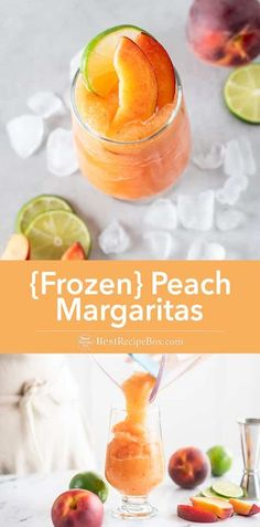 Summertime is here and time for peach cocktails. This easy and quick frozen peach margarita will keep you cool and refreshed. Blended Margarita Recipe, Peach Margarita Recipes, Cocktails For Parties, Easy Cocktails, Summer Cocktails, Party Drinks, Drinks Alcohol Recipes, Drink Recipes, Alcoholic Beverages