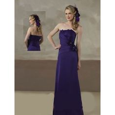 Custom Purple Strapless Engagement Mother of the Bride Evening Gown SKU-1040102