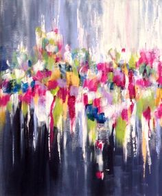 Panache, abstract painting by artist Michelle Carolan