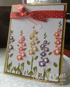 Image result for cards with Stampin' Up Spring Garden stamp set