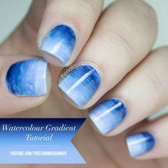 The Nailasaurus | UK Nail Art Blog: Watercolour Gradient Video Tutorial