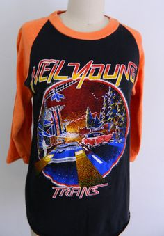 1980s Neil Young Tour Shirt ... Vintage Neil by GoodVibeVintage